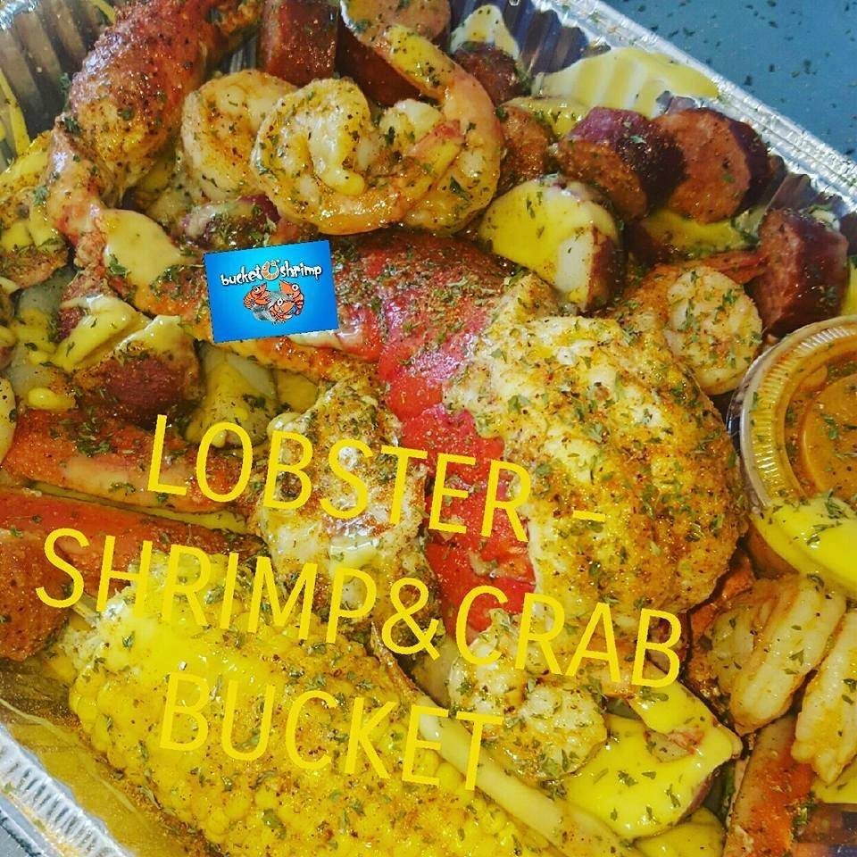 Shrimp. Crab, & Lobster Bucket (Low Country Boil)