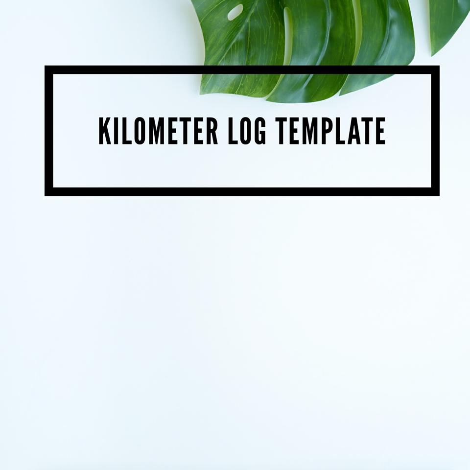 Mileage Log, Kilometer Log Template