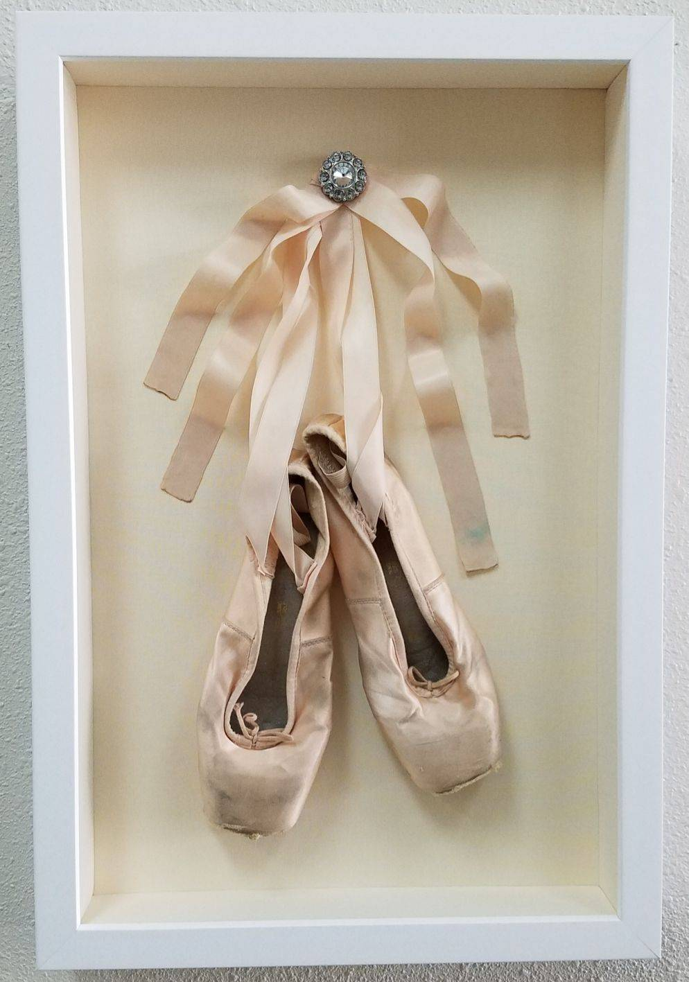 Framed ballerina slippers