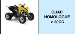 QUAD HOMOLOGUE >50CC