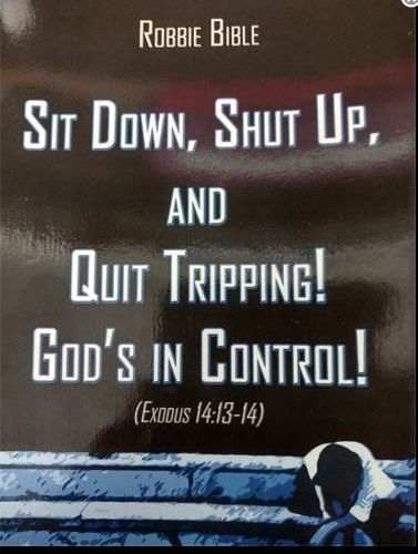 Sit Down, Shut Up and Quit Tripping, Gods in Control!, Author Robbie Bible