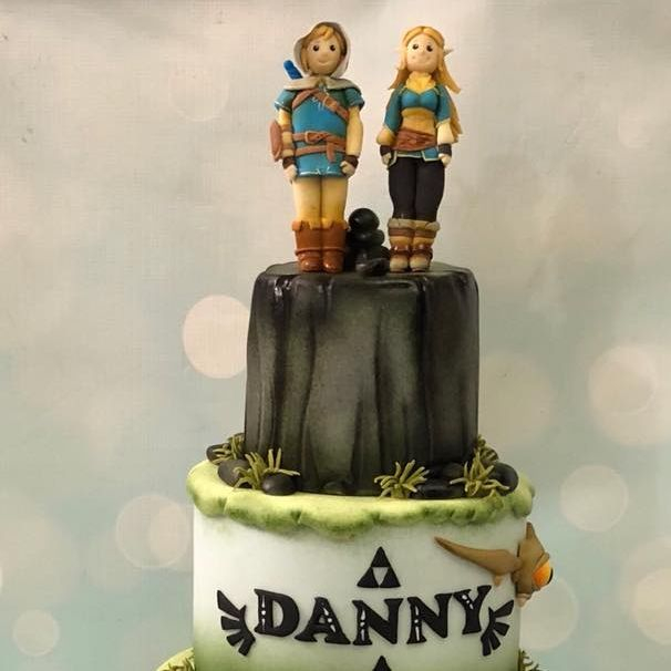 Legend Zelda Birthday Cake Link