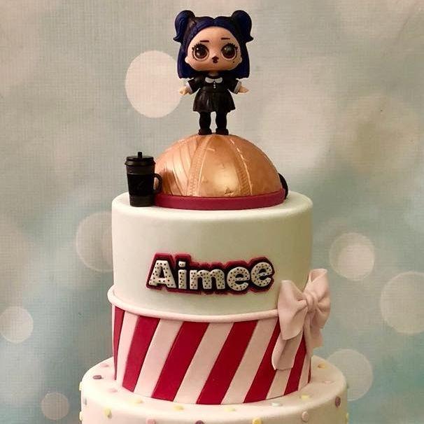 LOL Doll Birthday Cake Bow Zip