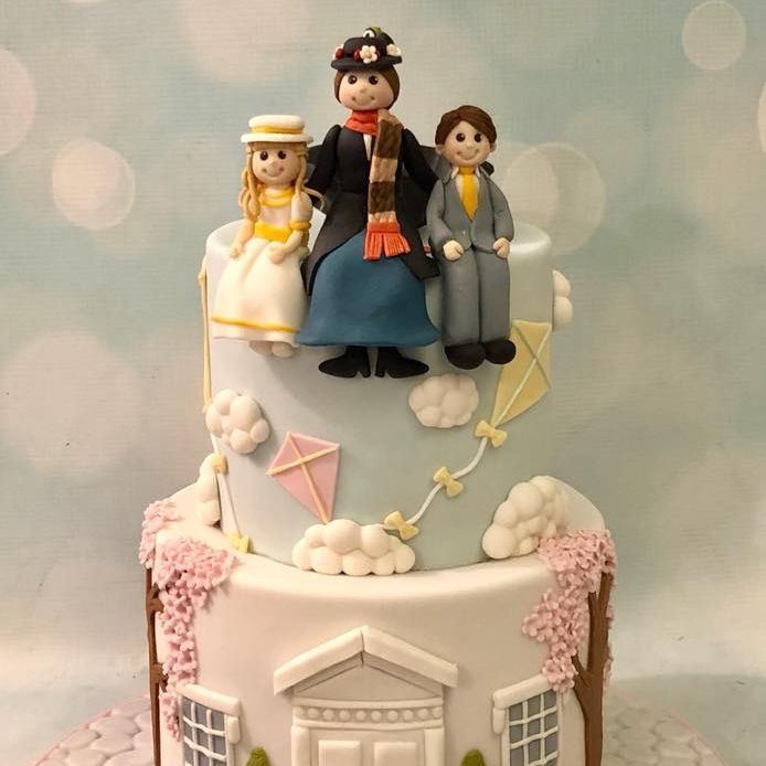 Mary Poppins Birthday Cake Kites Penguins House