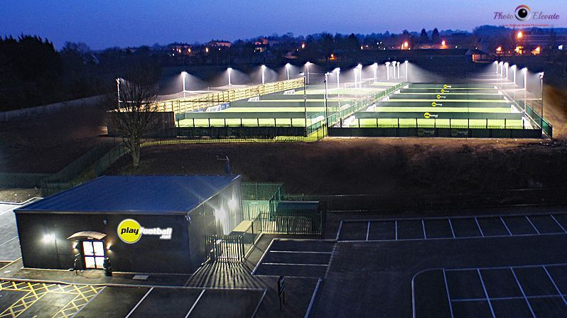 Aerial mast drone photography Essex play football Gillingham flood lights
