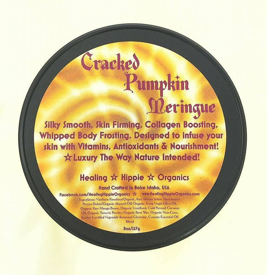 Cracked Pumkin and Tumeric Body Butter, Healing Hippie Organics, Boise, Idaho, USA