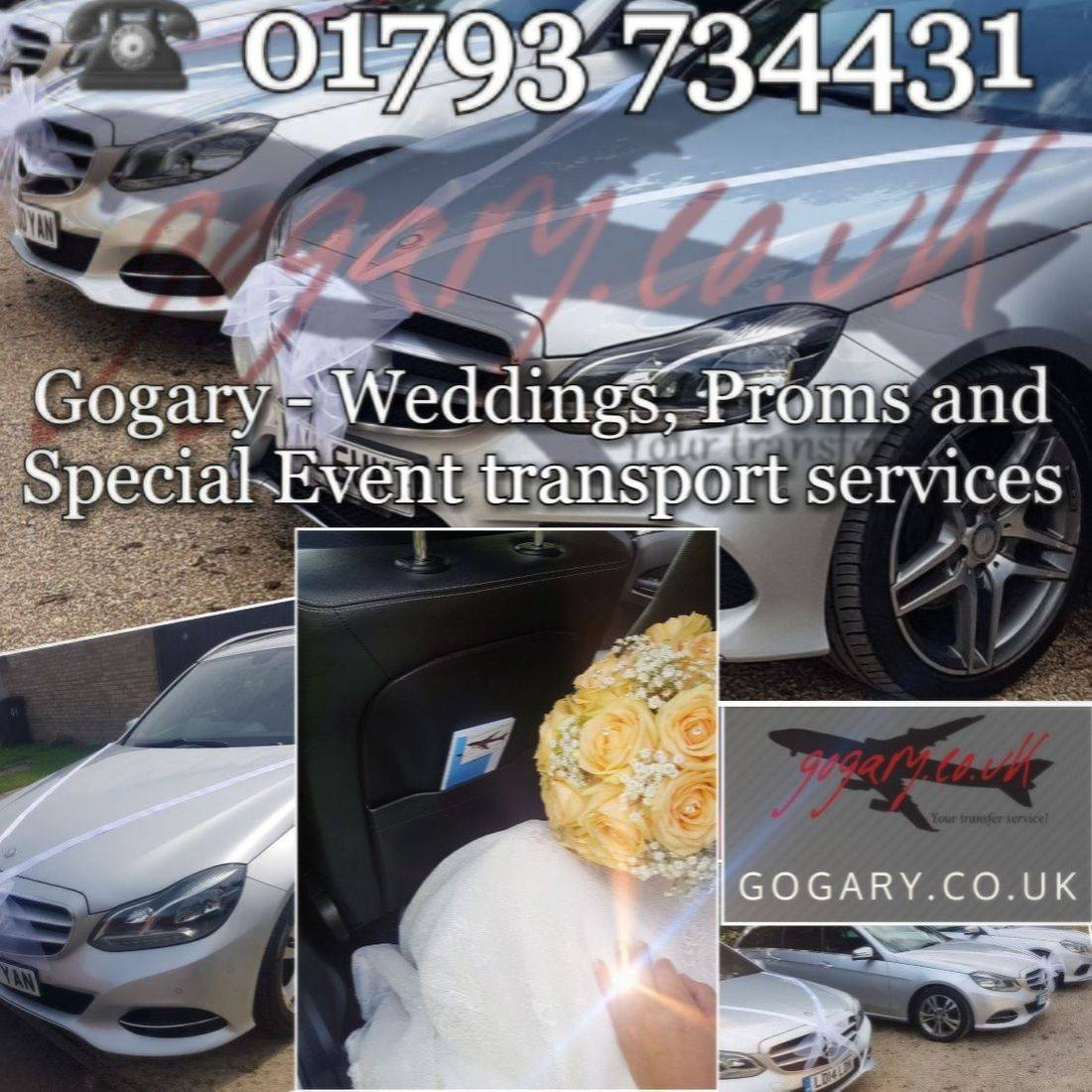 mercedes cars and flowers with GoGary Logo