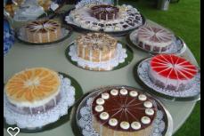 variety of dessert cakes