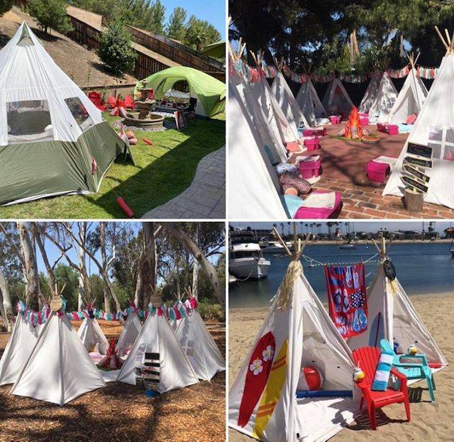 Kids party rental, teepee rentals, teepee sleepover, kids birthday party, kids birthday parties, birthday party, kids birthday party, party planner, Newport Beach, Orange County