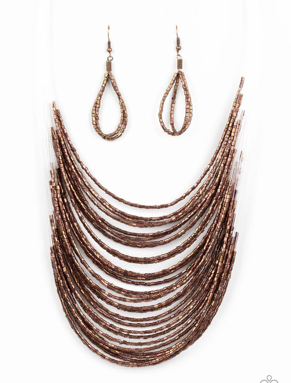 Paparazzi Catwalk Queen Copper Necklace Set