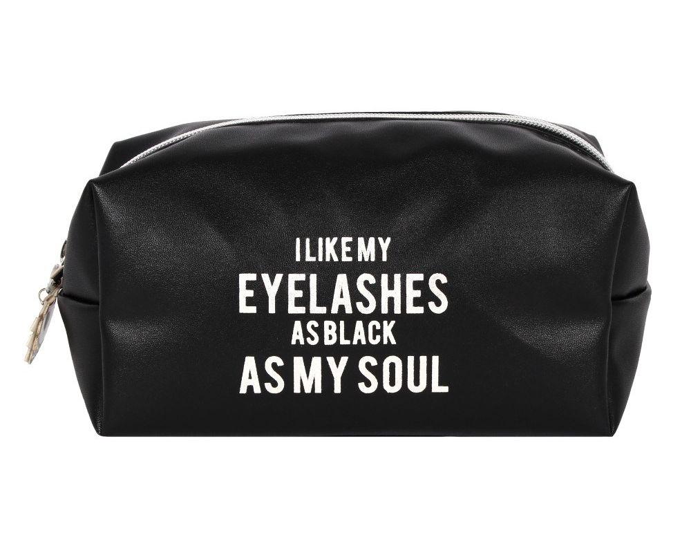 make up bag black as my soul