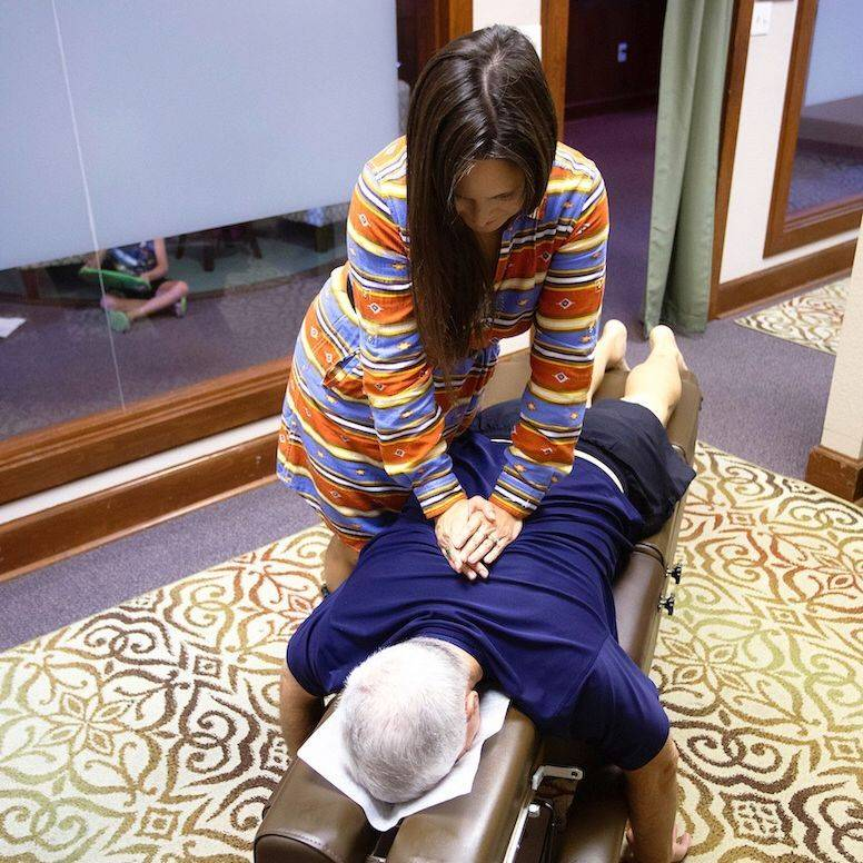 Dr. Amy Gonzalez Adjusting Patient