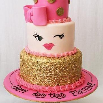 Custom Winky Face Cake Milwaukee