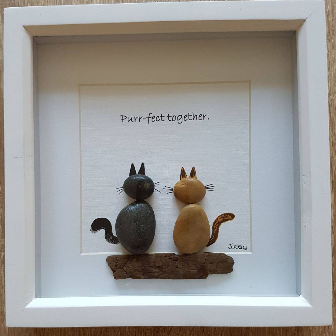 cat pebble art