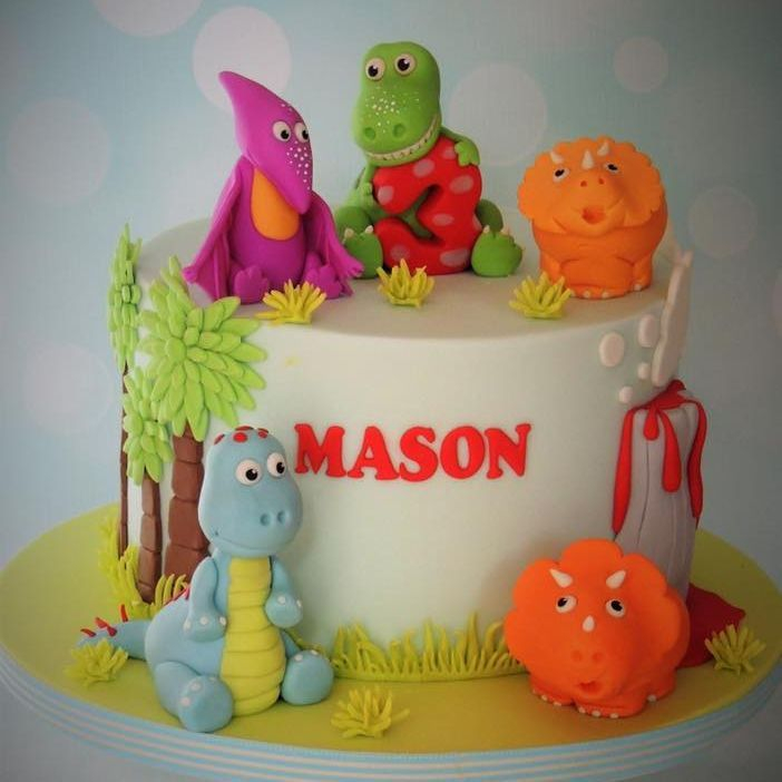 Dinosaur Birthday Cake Kids Child Novelty