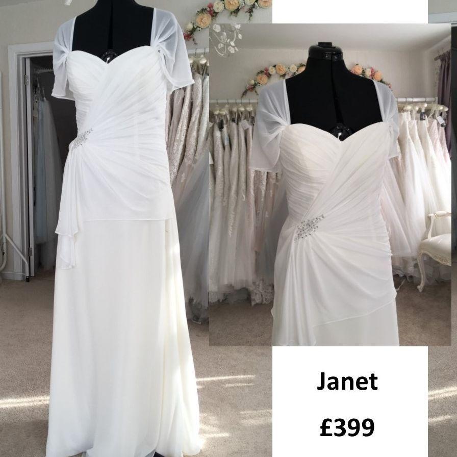 Simple Ivory wedding dress