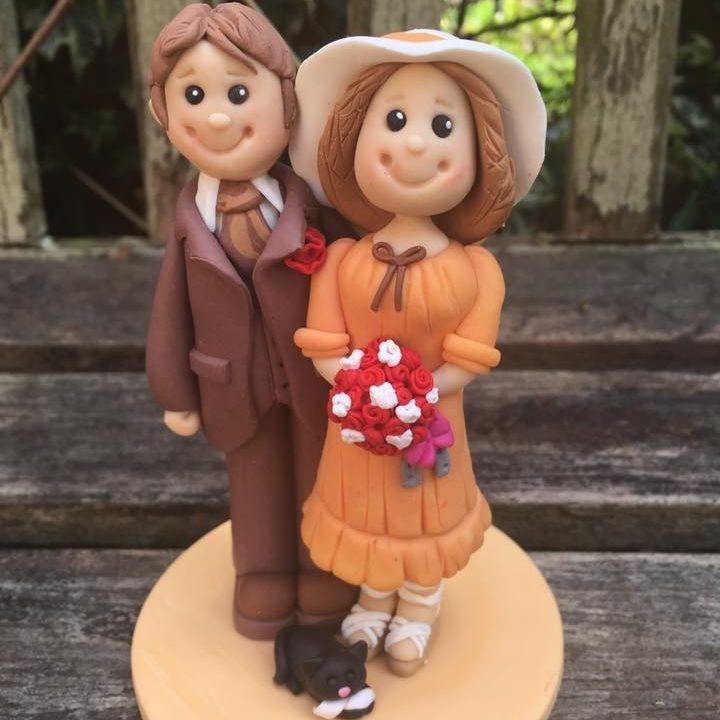 Bride Groom Personlised Family Pet Keepsakes Wedding Clay Topper  Anniversary