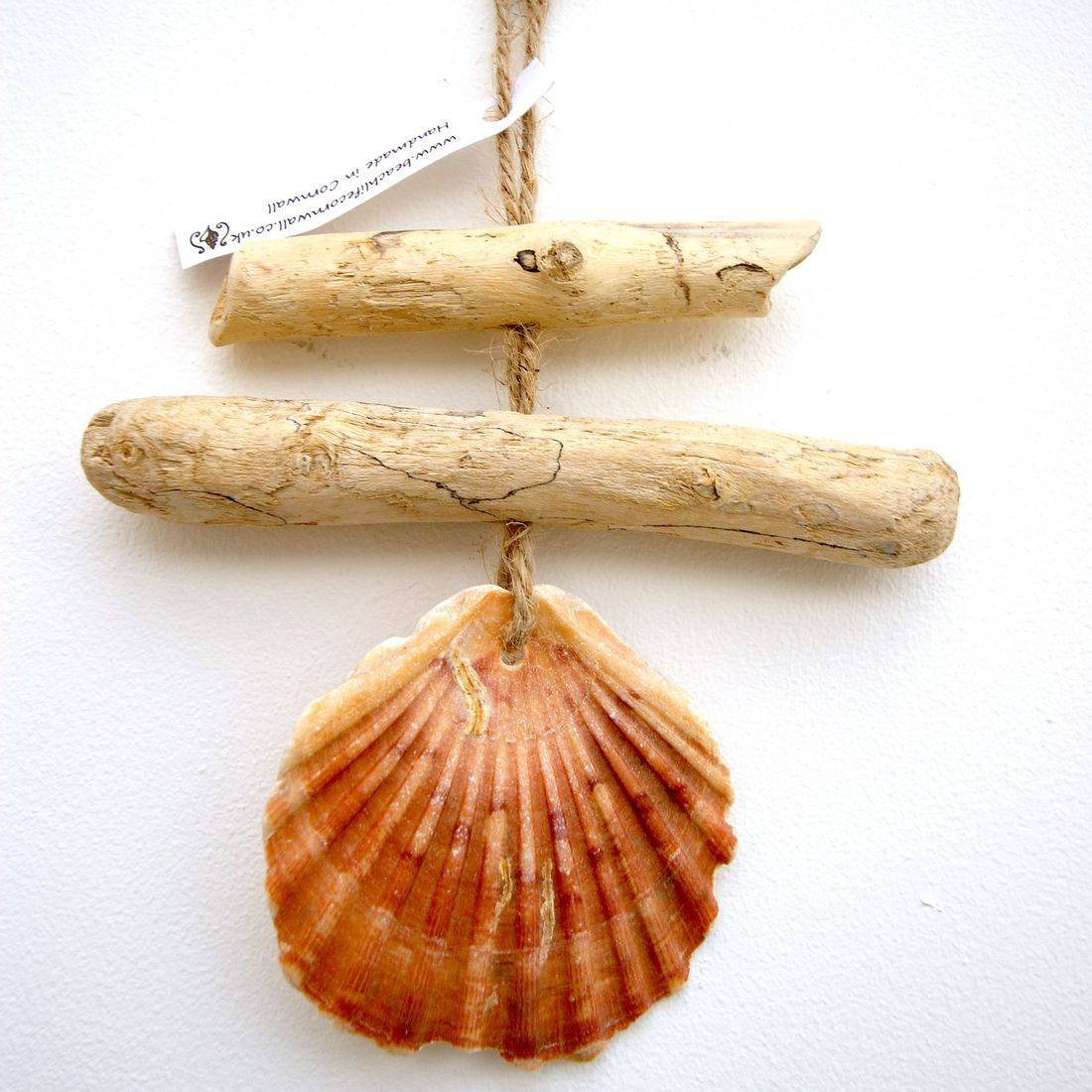 Driftwood and shell mobile 1