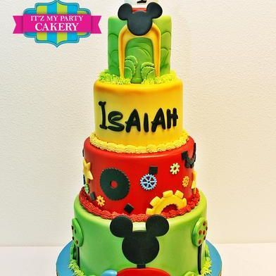 Custom Mickey land Cake Milwaukee