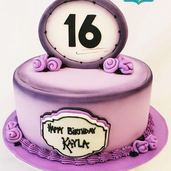 Custom Purple Sweet 16  Cake Milwaukee