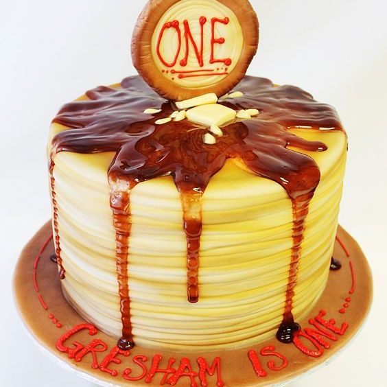 Custom Pancake Stack  Cake Milwaukee