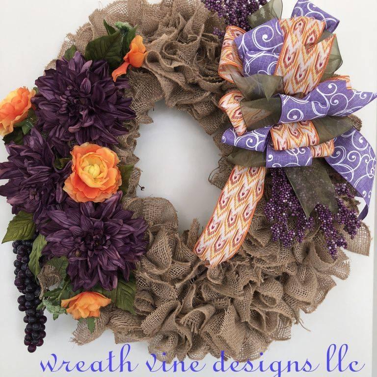 Candy Corn Tulle Wreath