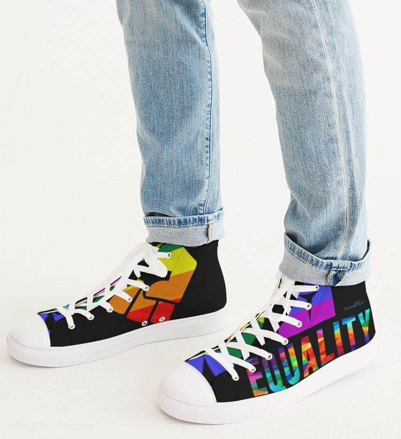 LGBTQ LOVE Men's Hightop Canvas Shoe