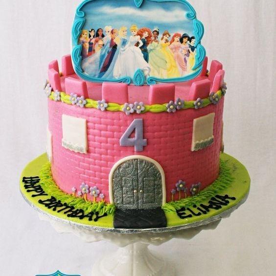 Custom  Disney Princesses Castle  Cake Milwaukee