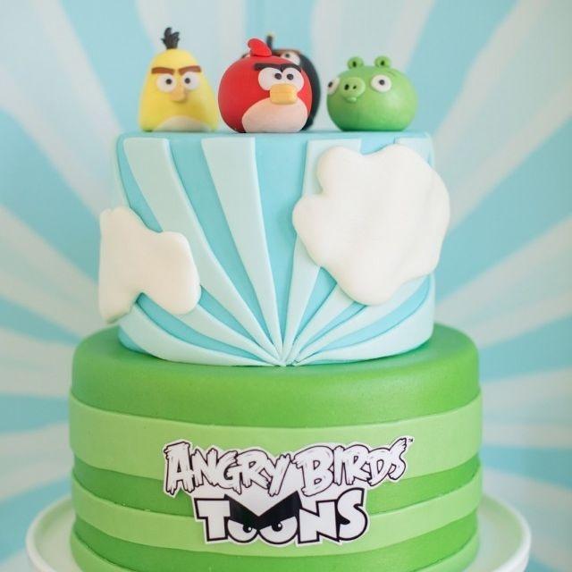 Custom Angry Birds Cake  Milwaukee