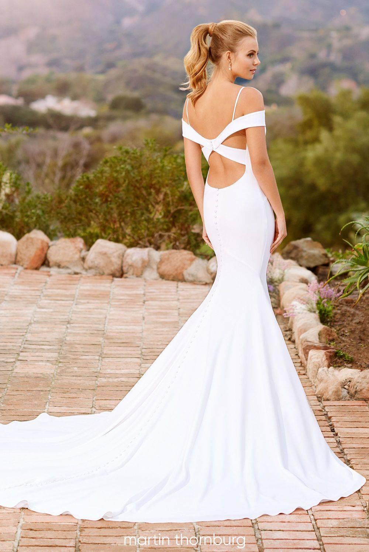 sexy wedding dress, simple wedding dress