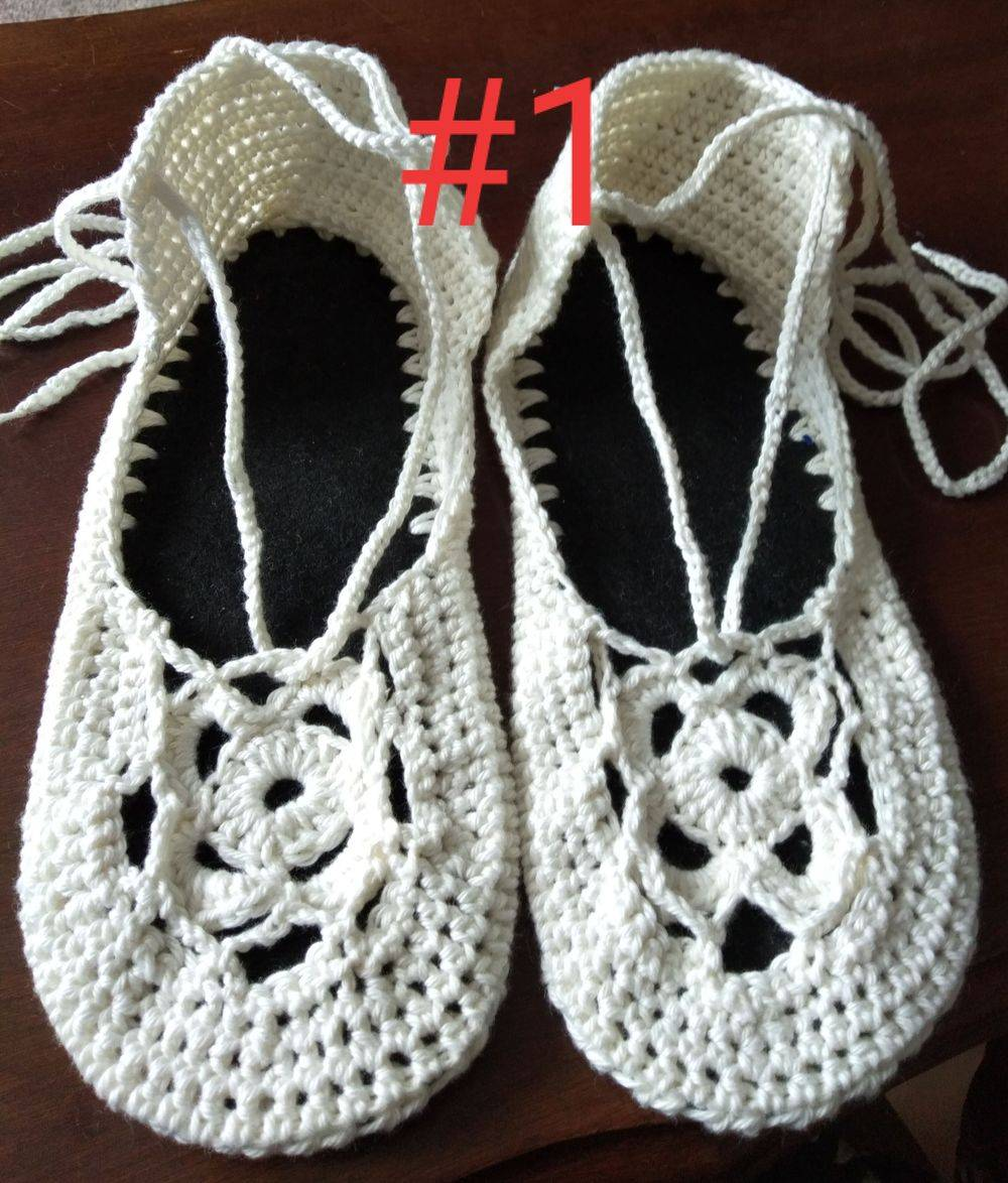 Boho shoe cotton handmade