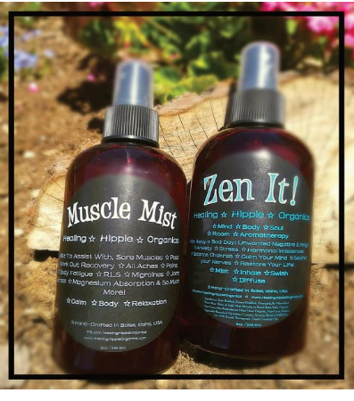 Muscle Mist & Zen It, Healing Hippie Organics, Boise, Idaho, USA