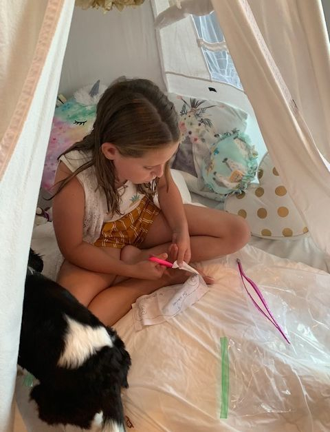 Kids party rentals, party rental, teepee rentals, teepee rental, kids sleepover party, teepee sleepover, face mask, kids face mask, kids birthday party, kids birthday parties, party planner, Newport Beach, Orange County