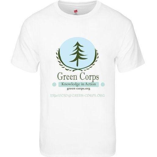 Green Corps Tee - White