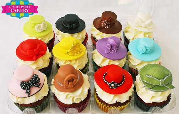 Fashion Hat Custom Cupcake Toppers Milwaukee
