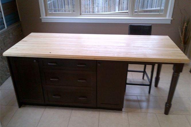 Maple edge grain desk top/island top
