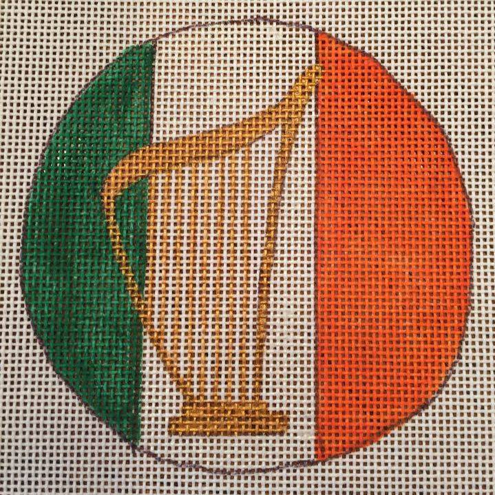 harp, Irish, St Patricks, ornament
