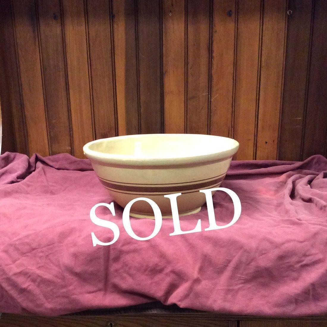 "Depression Era 14"" Yellow-ware Mixing Bowl   $70.00"