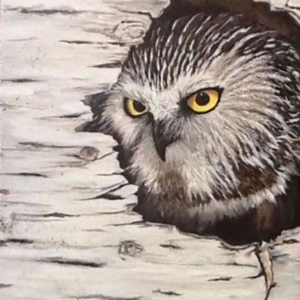 CMerritt  HIDDEN WISDOM  Acrylic 16x30