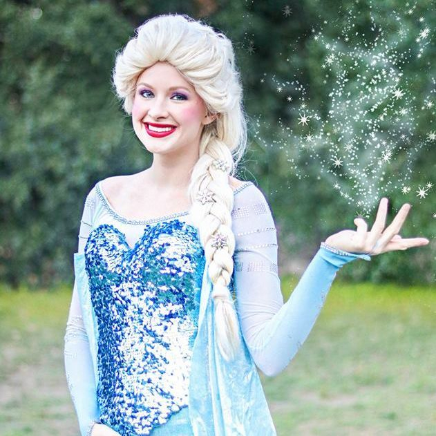 Frozen Queen Elsa for children's birthday parties in San Antonio