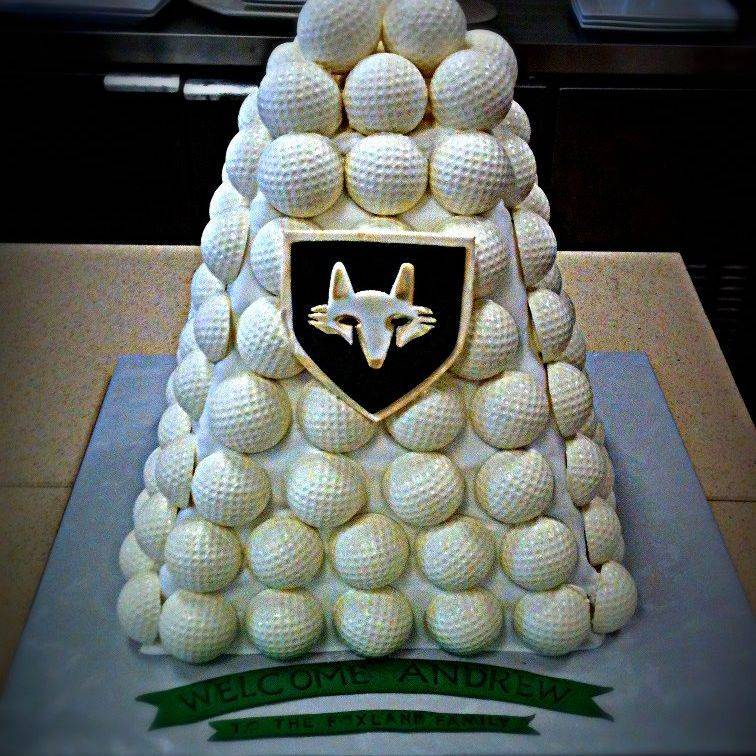 golf ball birthday cake