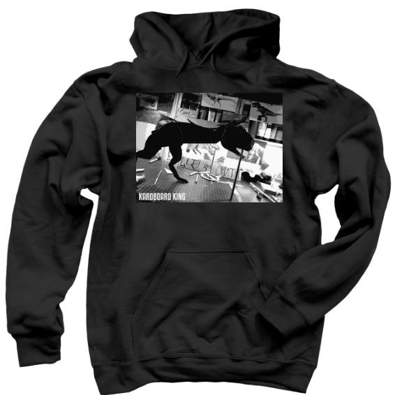 Round Logo Hoodie, black hoodie, kardboard king hoodie