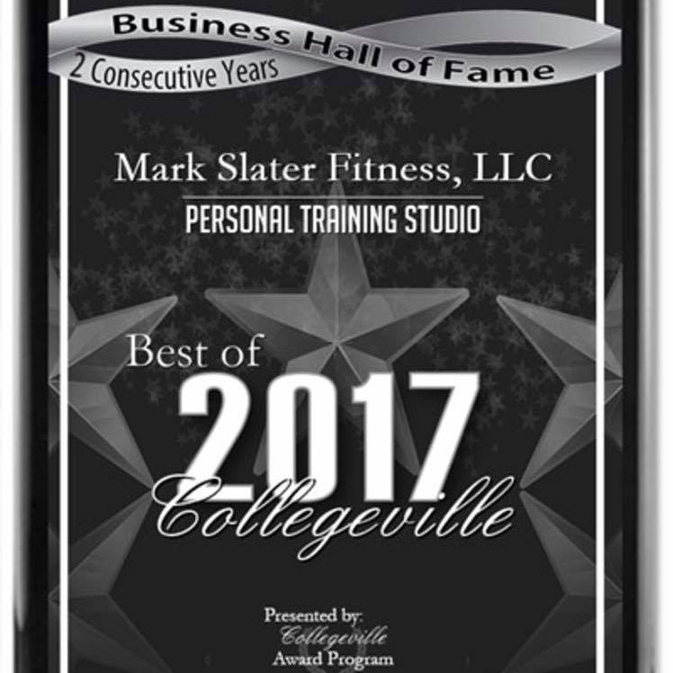 Personal Trainer Collegeville Award 2017