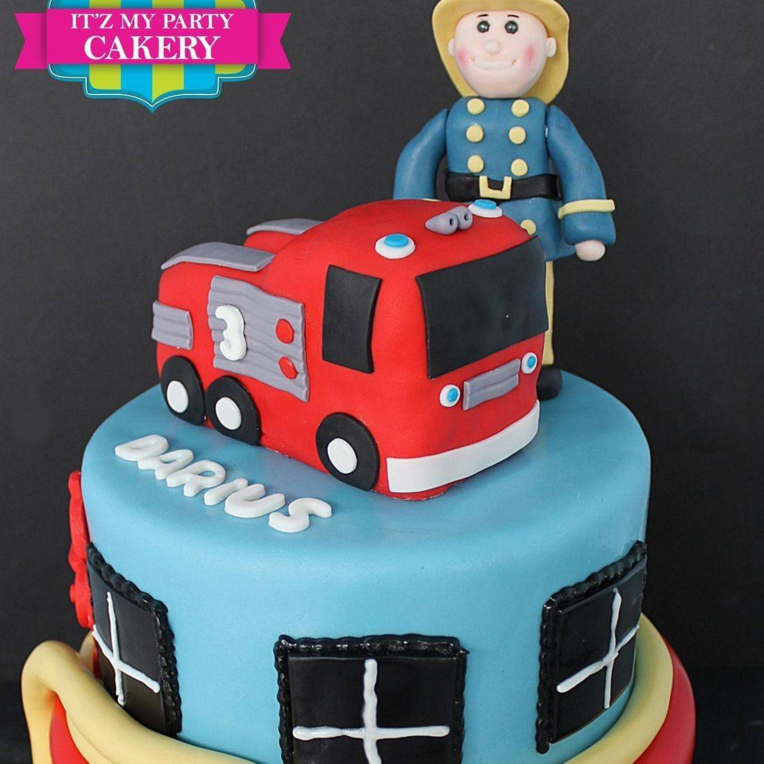 Custom Fireman Sam Cake  Milwaukee