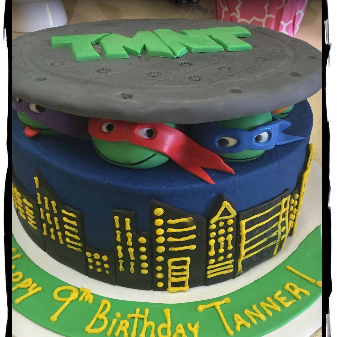 Teenage mutant teenage turtles birthday cake TMNT birthday cake buttercream