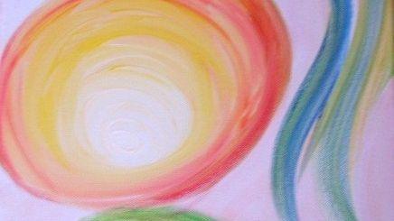 Acrylbild Möglichkeiten des Geistigen Heilens von Adelheid Heggenstaller