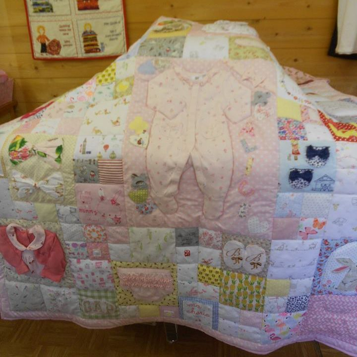 Quilts made from precious baby clothes