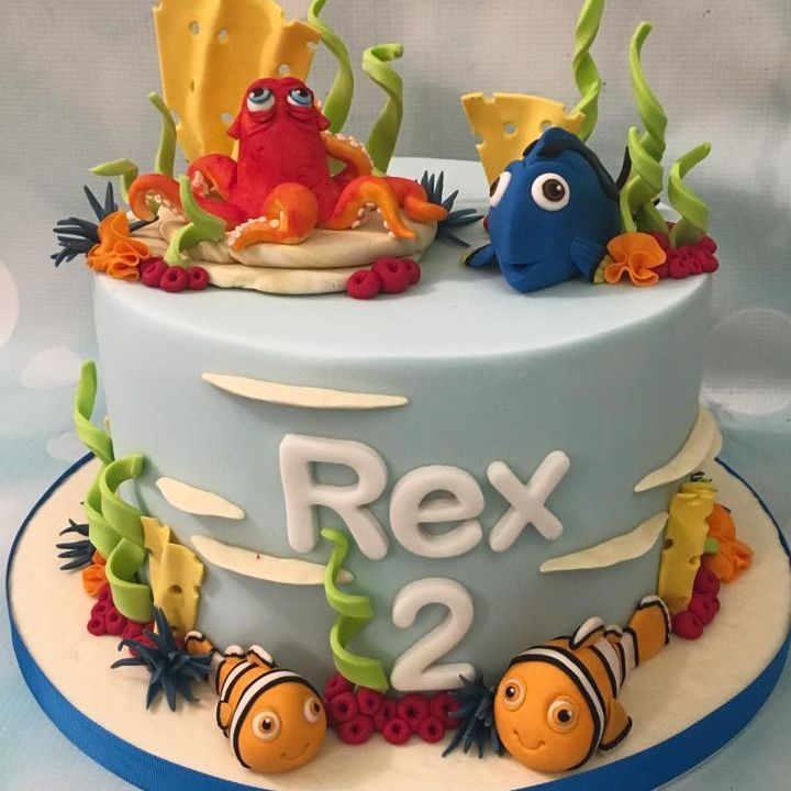 Finding Nemo Dory Cake Sea Coral Seaweed