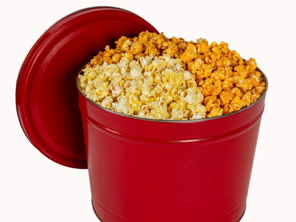 2 Gallong Tin of Hermes Popcorn