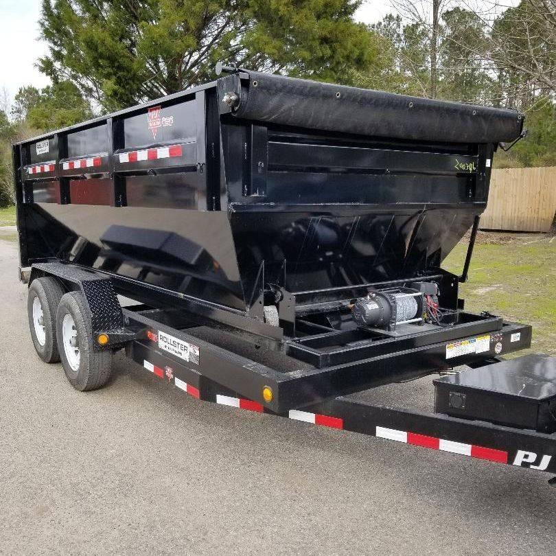 Black Rollster Roll Off Dump